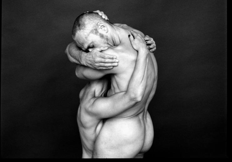 30 Jahre: Tanzcompagnie RUBATO Berlin,  Jutta Hell und Dieter Baumann,  Permanent Dialogues - Probenfoto UA : Aug 2001, Theater am Halleschen Ufer, BerlinFoto: Dirk Bleicker