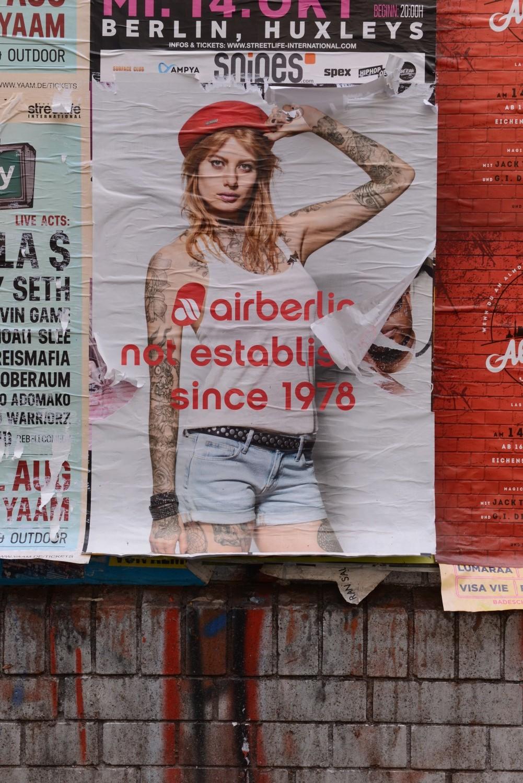 Das Plakatmotiv von Air Berlin (Foto: Lena Ganssmann)