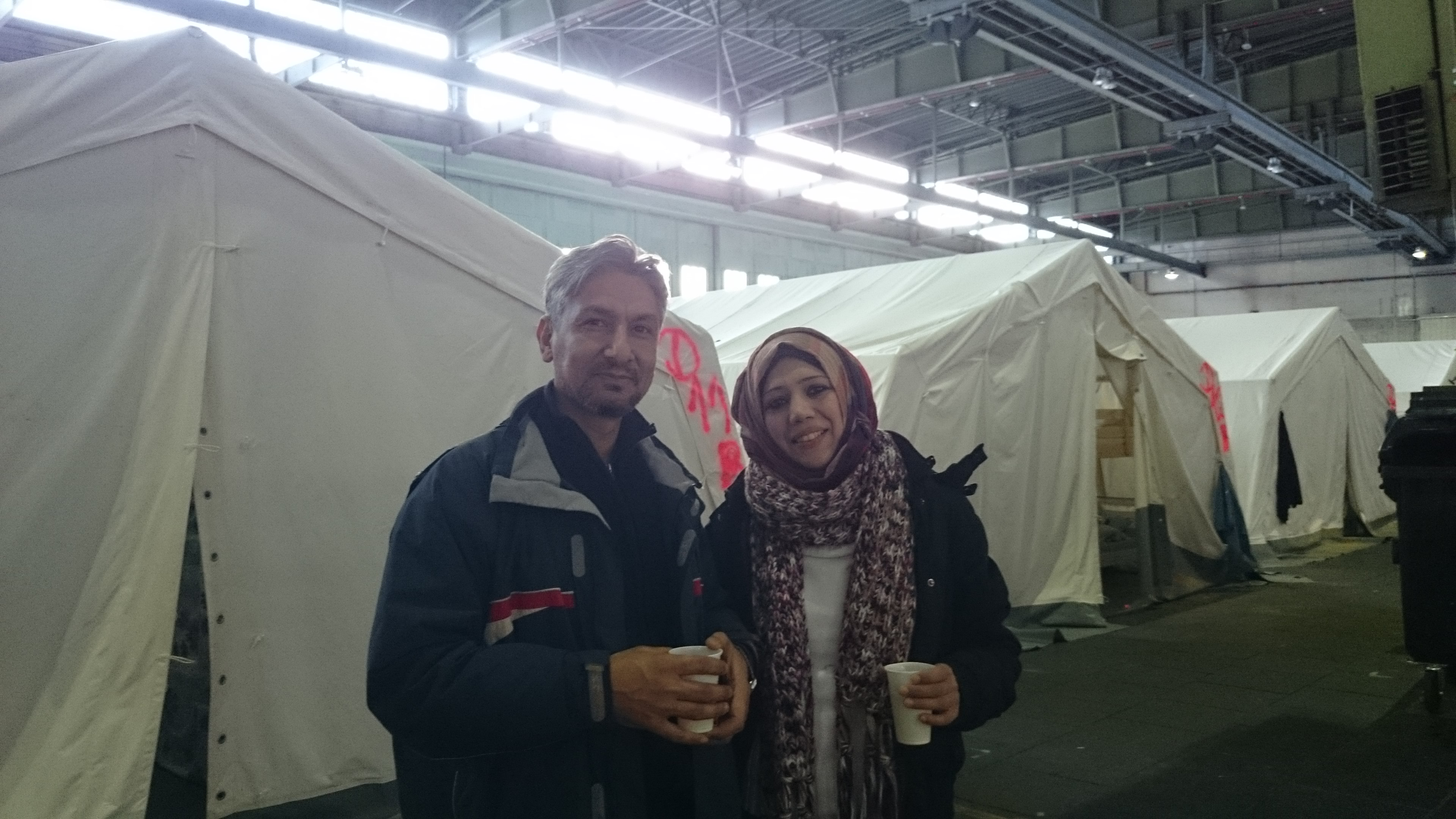 Flüchtlinge in THF, Ahmet und Hala