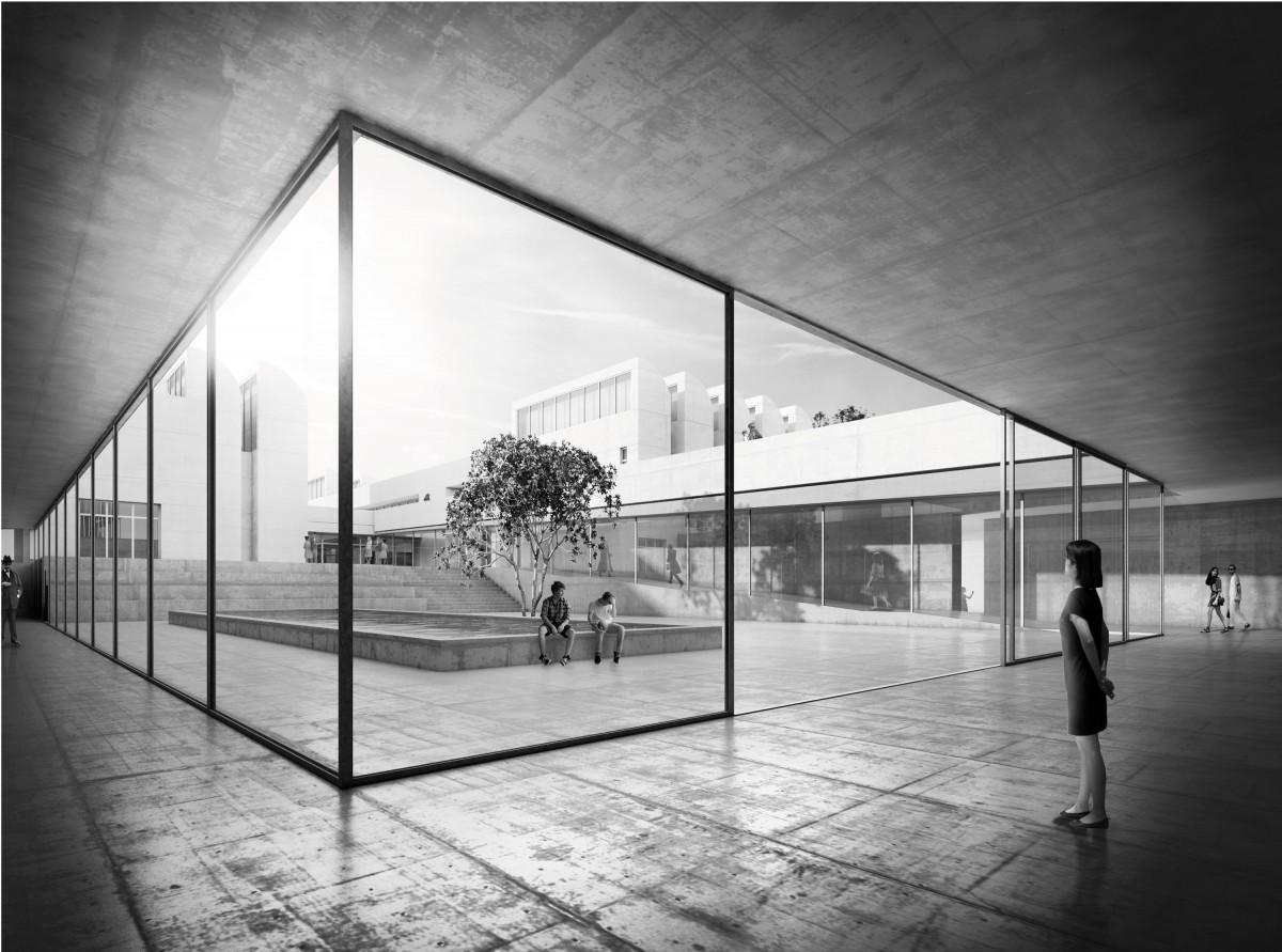 Erster Preis zum Wettbewerb Bauhaus-Archiv: Staab Architekten GmbH, Berlin, Visualisierung Foto: Staab Architekten