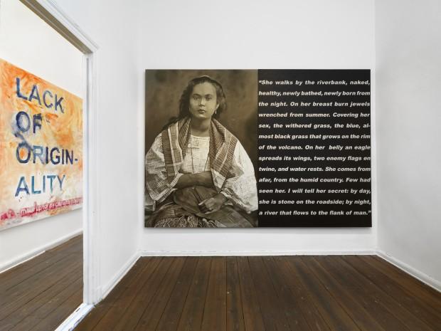 """Spanisches Erbe: """"Mestiza (2)"""", 2015, Öl auf Leinwand von Norberto Roldan in der Galerie Arndt, Postdamer Straße Foto: Bernd Borchardt"""