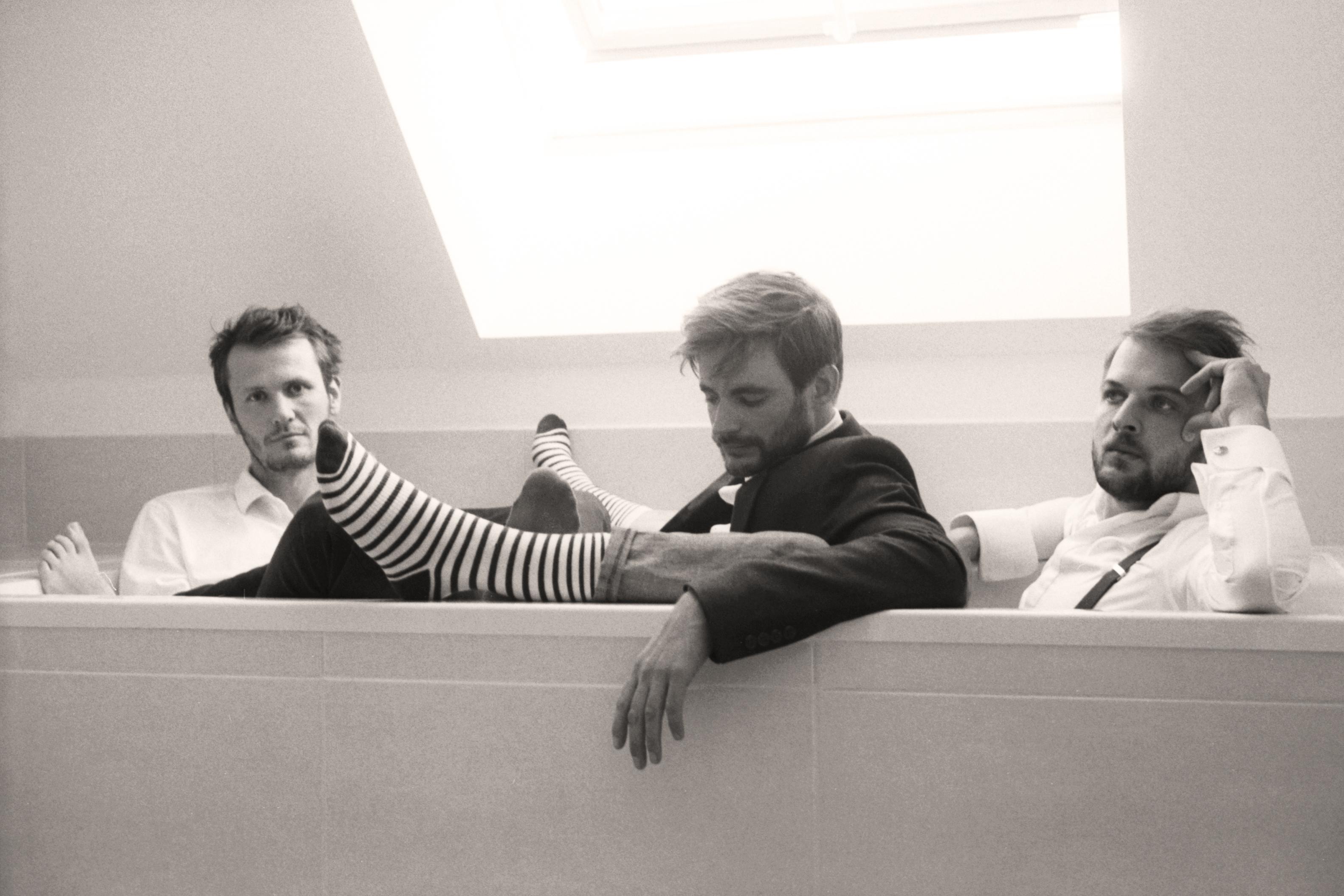 Hängen nun auch professionell ab: Singwald, Gmeiner und Frahm (v. links)Foto: Julia Soler