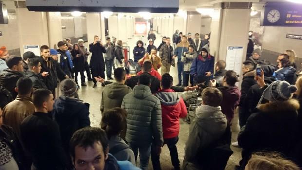 Party in der U-Bahnstation