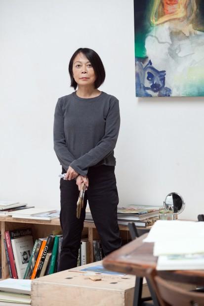Leiko Ikemaru in ihrem Atelier. Foto: Astrid Piethan