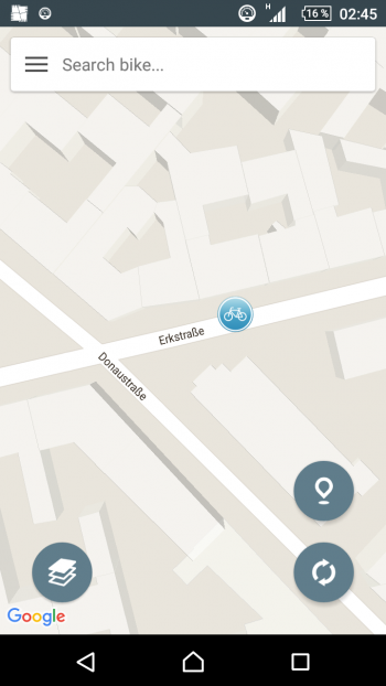 In der Erkstraße, Ecke Donaustraße stoppte das GPS-Signal