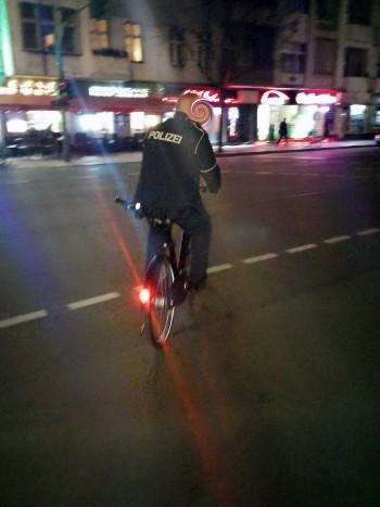 Das Rad wurde erstmal von der Polizei konfisziert