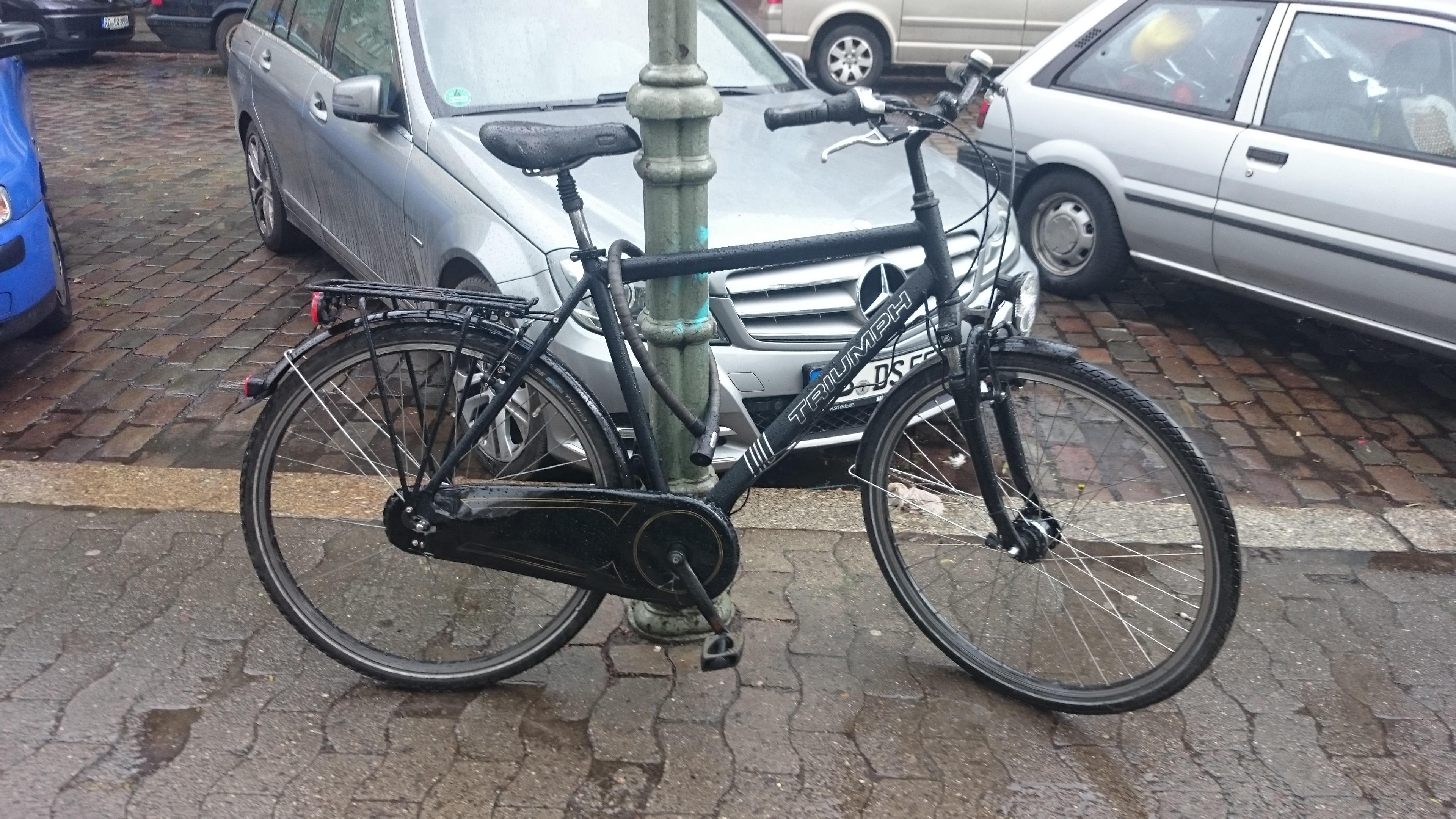 Das neue Fahrrad, bevor es geklaut wurde