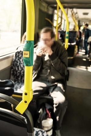 Essen im Bus und auch Trinken wird mit einem Verweis aus dem Fahrzeug geahndet