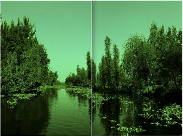 "In den Wassergärten von Mexiko-Stadt: Katya Gardea Brownes ""Xochimilco"", Foto-Diptychon, 2014 120 x 160 cm"