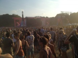 Eine von vier Bühnen beim Lollapalooza 2016