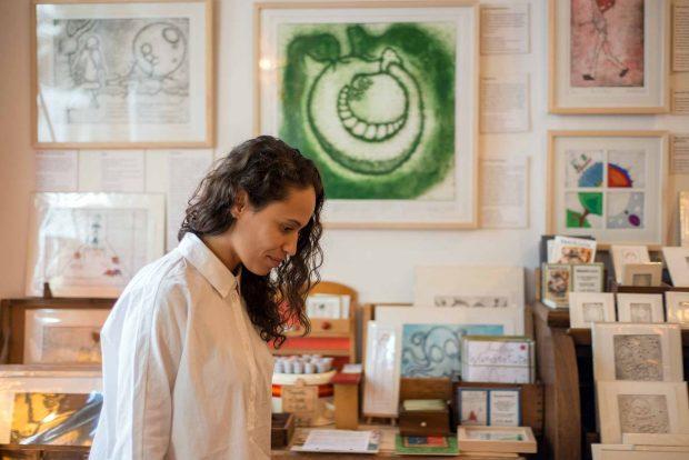 Kunst inspiriert Joyce Muniz, etwa im Projektraum von Anna Käse in der Allerstraße 43
