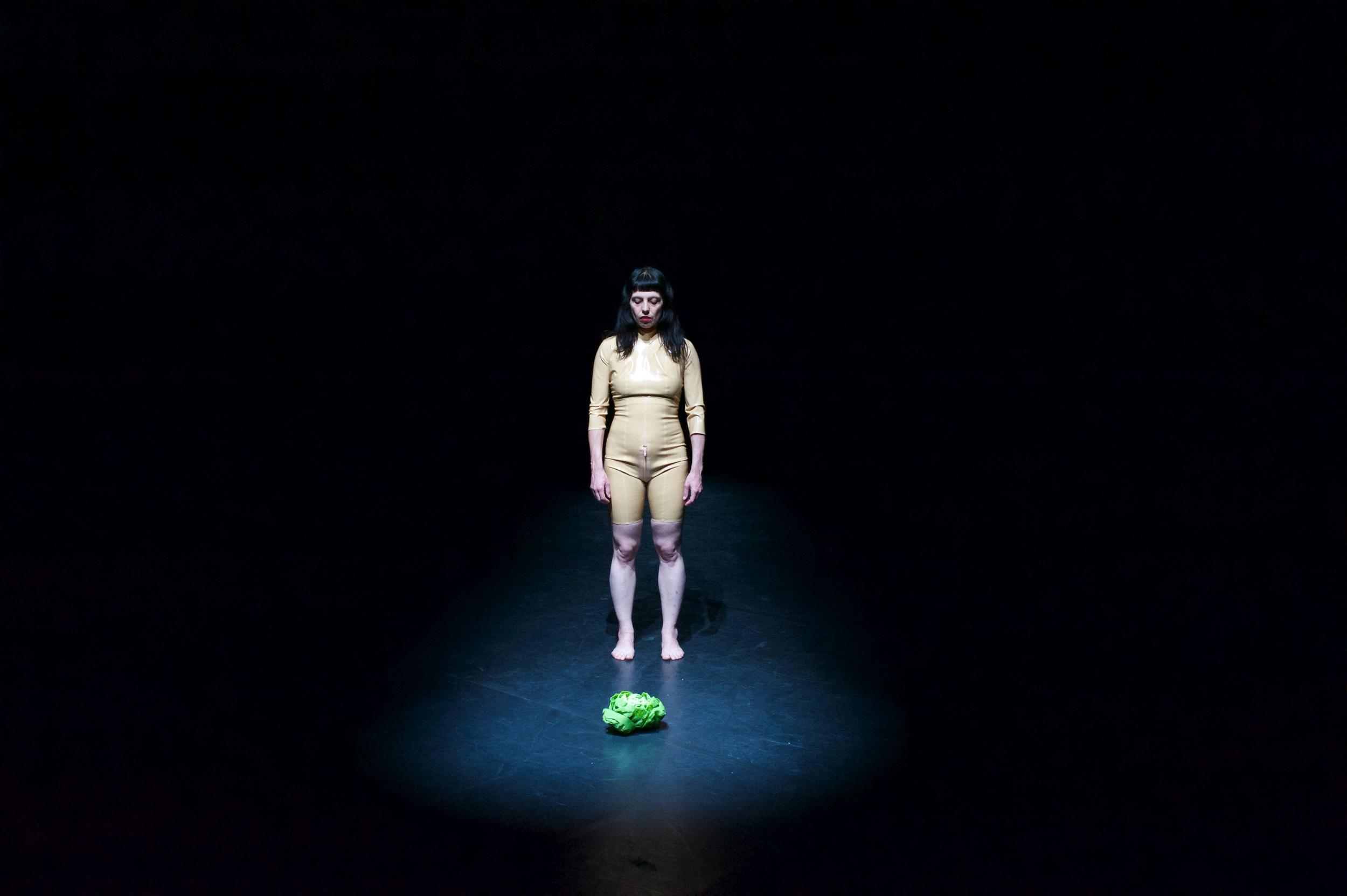 """Da haben wir den Salat: die vom Märchen """"Rapunzel"""" inspirierte Performance """"Dame Gothel ... it hurts to be beautiful"""" von Anna Natt – Foto: Piotr Rybkowski"""