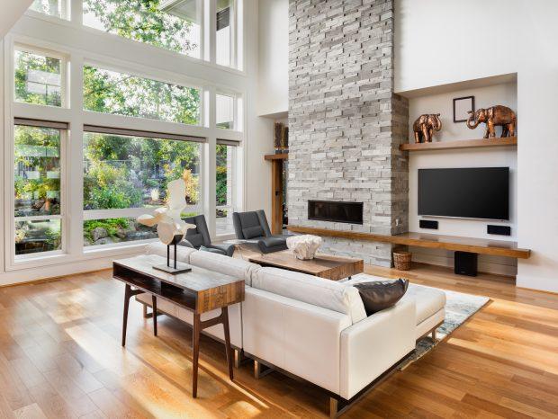 Zur Modernen Wohnraumgestaltung Gehören Unter Anderem Eine  Energieeffiziente Und Nachhaltige Raumumgebung. Dazu Tragen Zum Beispiel