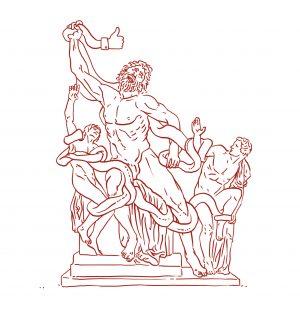 """Heute sind es nicht mehr Schlangen, gegen die einst Laokoon in der griechischen und römischen Mythologie kämpfte, die uns umtreiben – sondern die Hysterie-Wellen der """"Likes"""""""