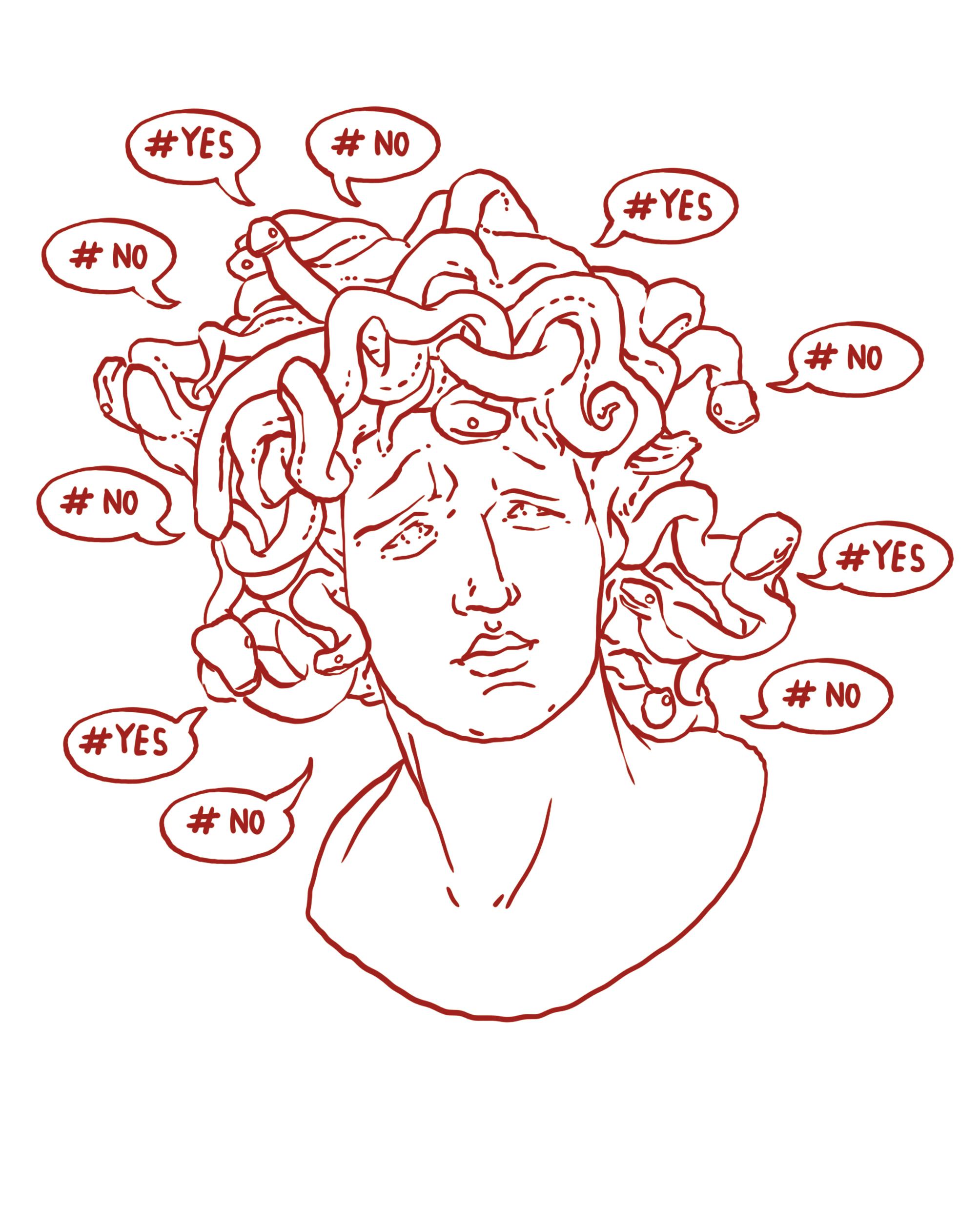 Verloren im  Hashtag-Wirbel:  Wie einst Medusa haben wir ganz schön viel um die Ohren