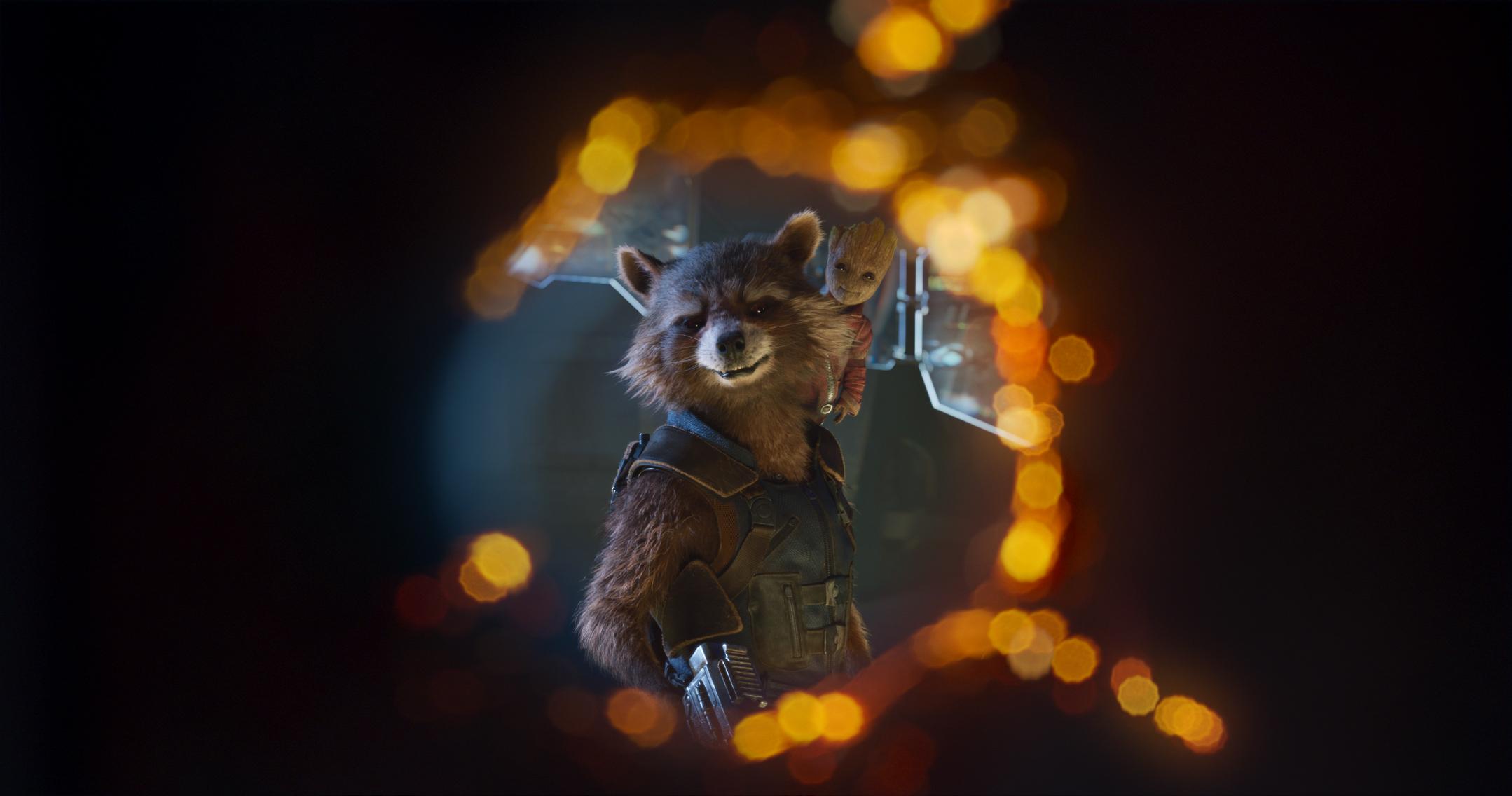 Der Nicht-Waschbär Rocket und Baby Groot, der eigentliche Star des FilmsFoto: Marvel Studios 2017