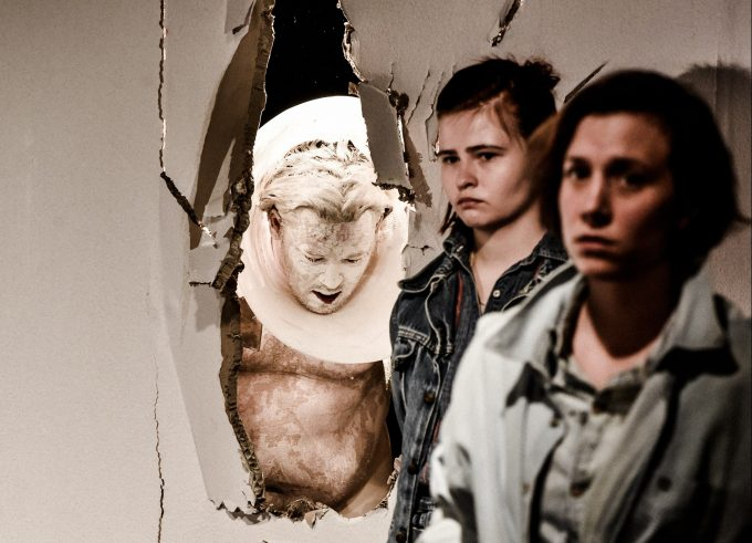 Vier solidarische Chaoten: Božidar Kocevski, Christoph Franken, Lisa Hrdina, Elena Schmidt – Foto: Arno Declair