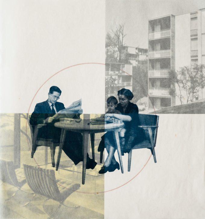 Georg A. Neidenberger, Grafik aus Broschüre zur Internationalen Bauausstellung Berlin 1957 Werkbundarchiv – Museum der Dinge Berlin