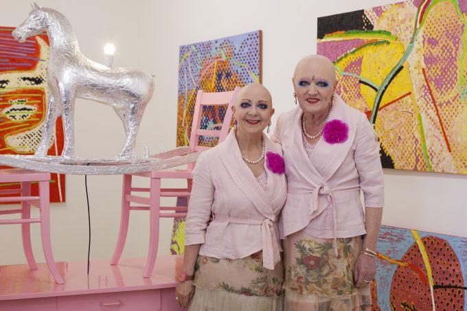 Adele & Eva in ihrem Charlottenburger Atelier.  Foto: Patricia Schichl