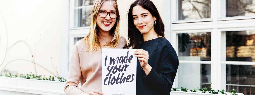 """Für Lia Bernard  (l.) und Lydia Hersberger ist jede Woche Fashion Revolution Week: Die beiden gründeten das nachhaltiges Modelabel """"Myrka Studios""""Foto: Lydia Hersberger/MYRKA studios"""