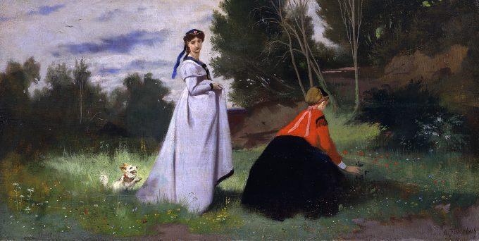 Anselm Feuerbach Zwei Damen in der Landschaft, 1867 Öl auf Leinwand © Staatliche Museen zu Berlin, Nationalgalerie / Jörg P. Anders