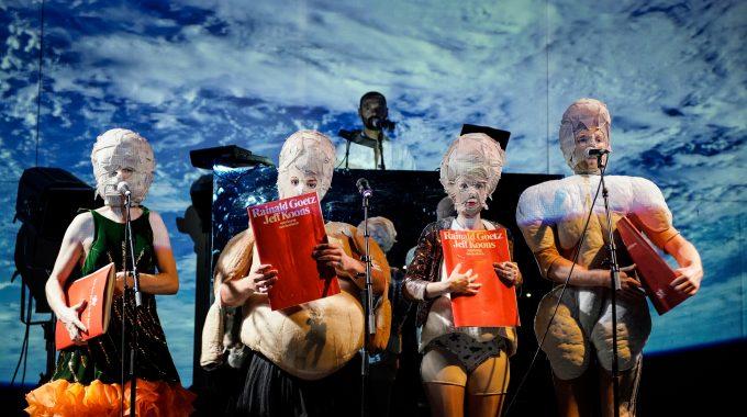 Kunst-Puzzle: Kay Bartholomäus Schulze, Damir Avdic, Romain Frequency, Iris Becher, Lukas Turtur – Foto: Arno Declair