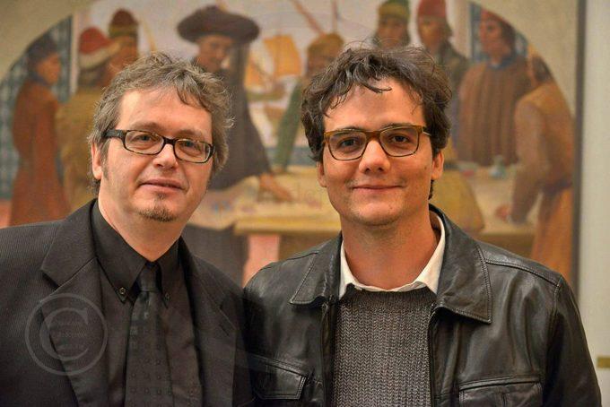 ZITTY-Redakteur Friedhelm Teicke mit dem brasilianischen Schauspielstar Wagner Moura, Berlinale 2014 – Foto: Mehmet Dedeoglu / dedepress
