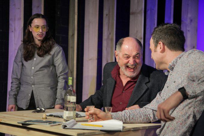 Senita Huskić, Jürgen Haug, Urs Stämpfli (v.li.) – Foto: Manuel Graubner/Vagantenbühne