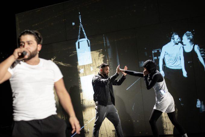 Heftig: Elwin Chalabianlou, Tamer Arslan, Laura Balzer (v.l.n.r.) – JR Berliner Ensemble
