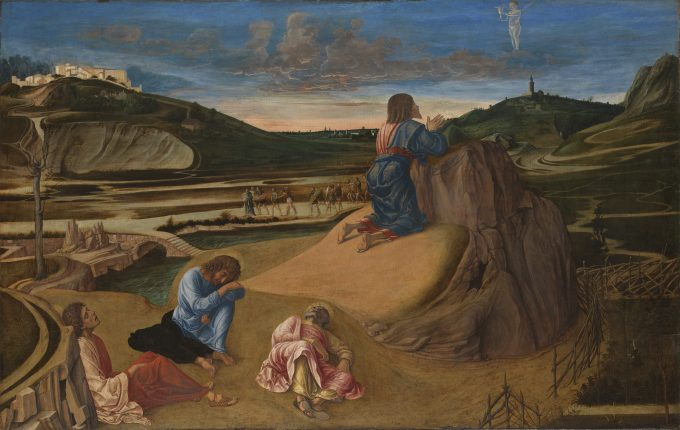 "Giovanni Bellini: ""Christus am Ölberg"", um 1465 Holz, 81,3 x 127 cm, erworben 1863 © The National Gallery, London"