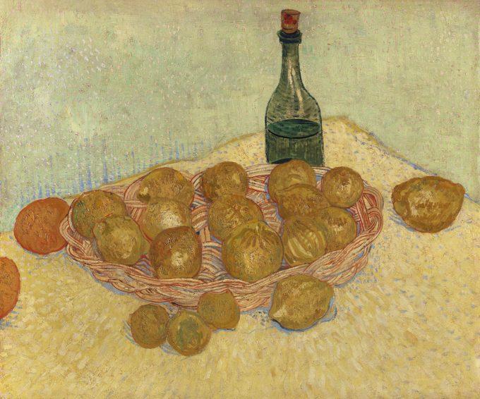Vincent van Gogh (1853-1890), Korb mit Zitronen und Flasche, 1888, Öl auf Leinwand, 53,9 x 64,3 cm, Foto: Kröller-Müller Museum, Otterlo, Niederlande