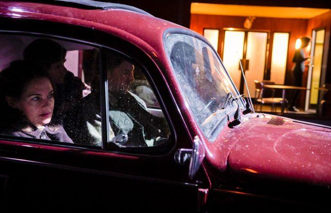 Ein folgenreicher Unfall: Probenfoto mit Stephanie Eidt und David Ruland – Foto: Arno Declair