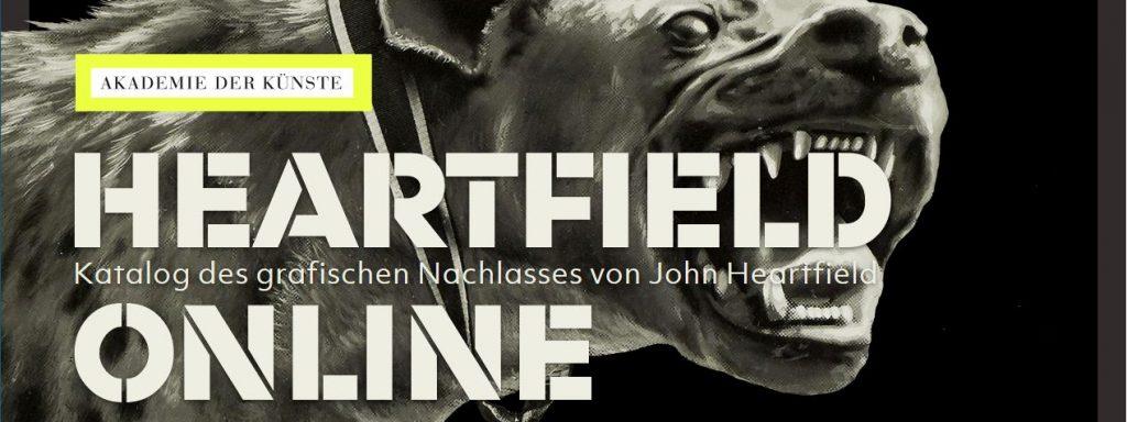 Sartseite der Online-Präsentation von John Heartfield auf den Seiten der Akademie der Künste (c) Akademie der Künste