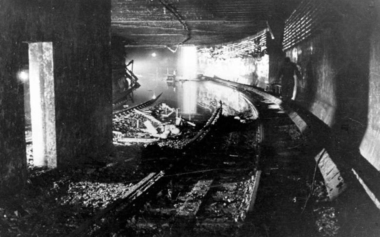 gesprengter S-Bahntunnel