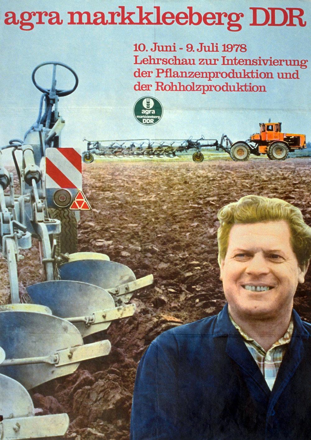 Agrar-Plakat der DDR